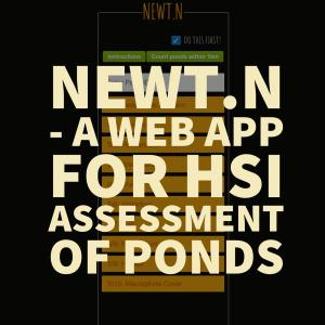NEWT.N - A web app for HSI assessment of ponds
