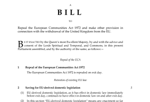 The Great Repeal Bill has been published as the European Union (Withdrawal) Bill today (13 July 2017)