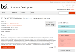 CONSULTATION: ISO DIS 19011 on auditing