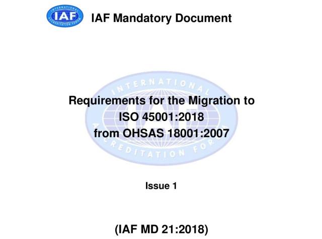 IAF MD 21:2018)