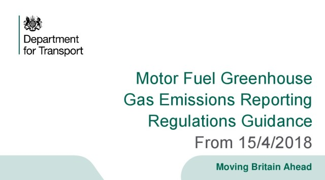 Motor Fuel Greenhouse Gas Emissions Reporting Guidance