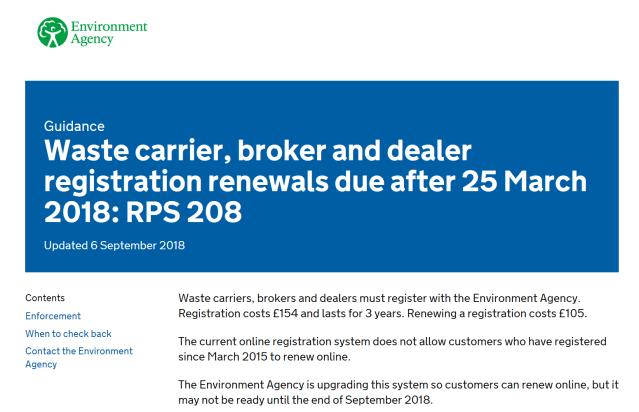 PRS 208 - Registration Extension - Sept 2018
